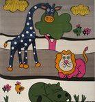 خرید آنلاین فرش کودکان طرح جنگل و حیوانات