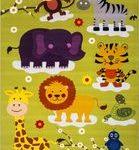 خرید فرش کودکان آنلاین طرح باغ وحش