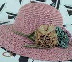 کلاه حصیری لبه دار دخترانه