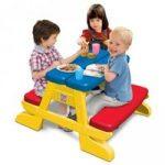 نیمکت و میز کودک برای حیاط و فضای باز