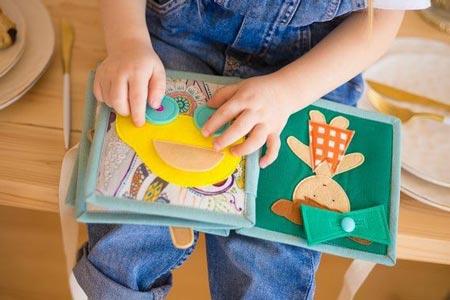 کتاب پارچه ای کودک ، نوزاد ، بچه گانه